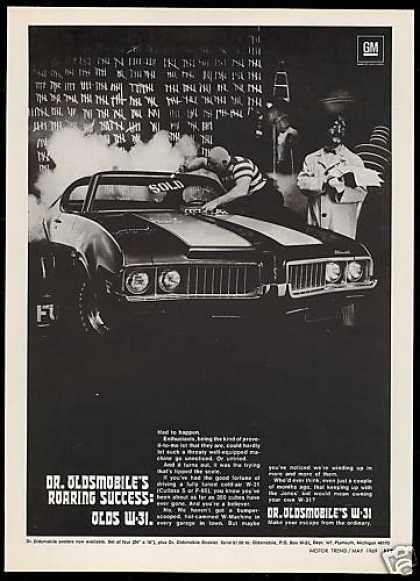 Dr Oldsmobile W-31 Car Cutlass S Photo Vintage (1969)