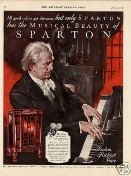 Sparton Radio Color Ad Model 235 (1931)