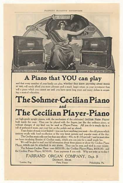 Farrand Sohmer-Cecilian Piano Player-Piano (1905)