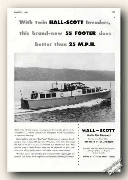 Consolidated 55 Sea Puss Hall-scott Advertising (1947)