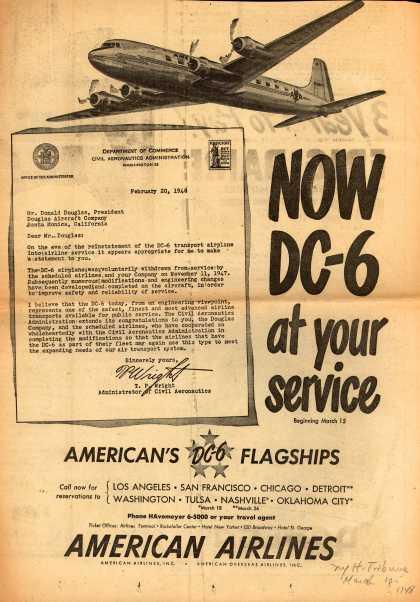 American Airlines – Now DC-6 at Your Service (1948)