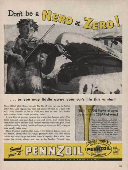 Dont Be a Nero at Zero Pennzoil for Car (1946)