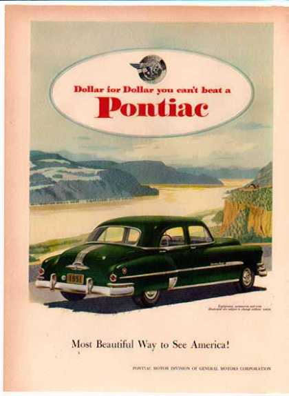 Pontiac Eight Car – Dark Green – Crossing the Dam (1951)