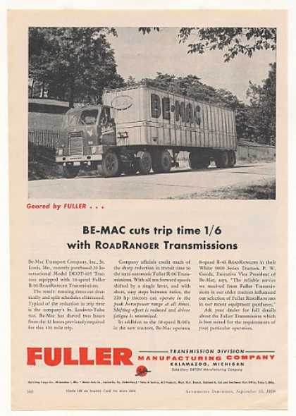 Be-Mac International DCOT-405 Truck Fuller (1959)