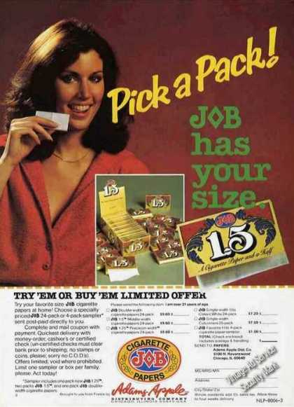 Job Cigarette Papers Job Has Your Size (1980)