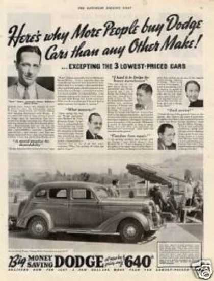 "Dodge Touring Sedan Ad ""Here's Why More... (1936)"