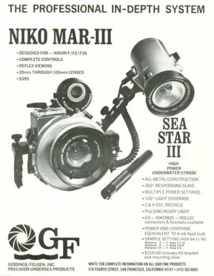 Gf Giddings Felgen Underwater Strobe Sea Star Ad T (1971)