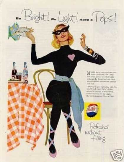 "Pepsi-cola Ad ""Be Bright...be Light..."" (1958)"