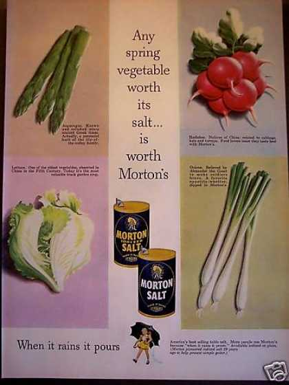Morton's Salt On Vegetables (1953)
