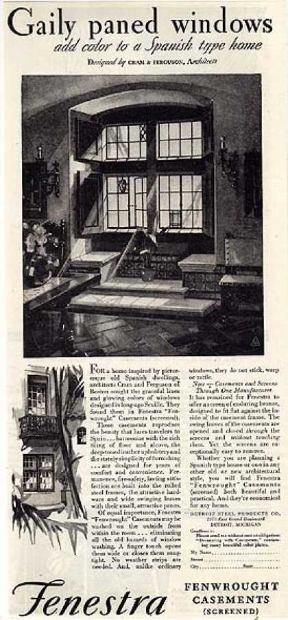 Fenestra's Screened Fenwrought Casement Windows (1930)