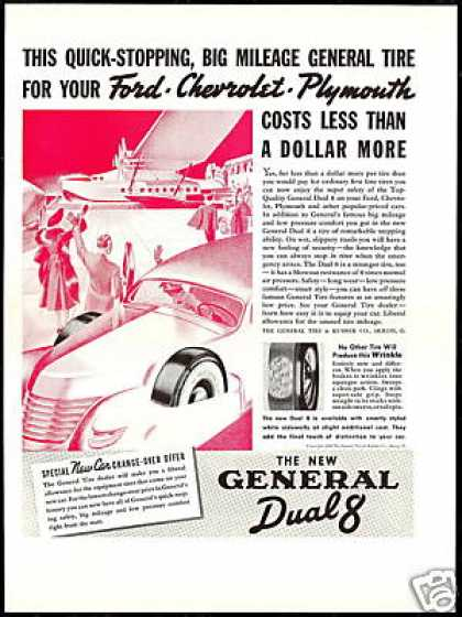 General Tire Dual 8 Float Plane Vintage (1937)