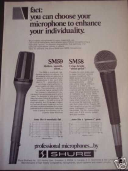 Shure Microphones Sm59 Sm58 (1979)