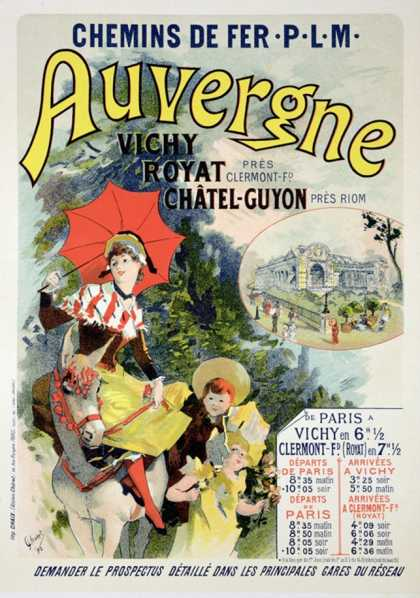 "Reproduction of a Poster Advertising the ""Auvergne Railway,"" France (1892)"