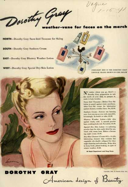 Dorothy Gray – Dorothy Gray weather-vane for faces on the march (1941)