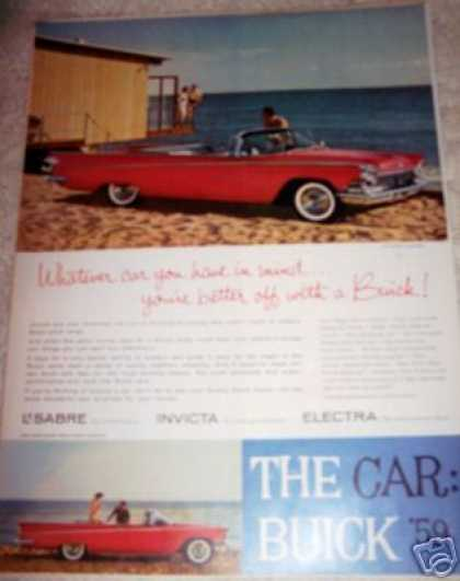 The Car Buick Lesabre Red Convertible (1959)