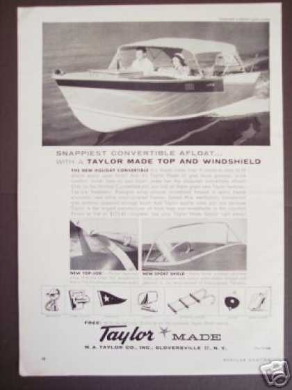 Taylor Holiday Convertible Boat Boating (1959)