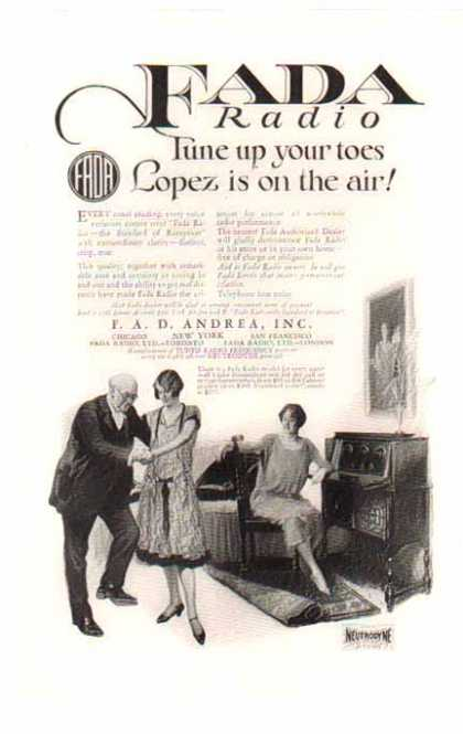 FADA Radio – Lopez Is On The Air (1925)