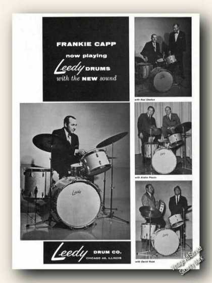 Frankie Capp Photos Leedy Drums Promo (1965)