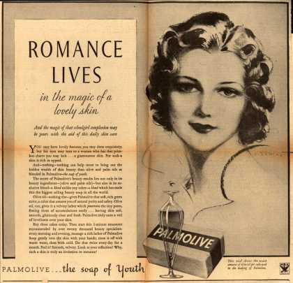 Palmolive Company's Palmolive Soap – Romance Lives in the magic of a lovely skin (1933)