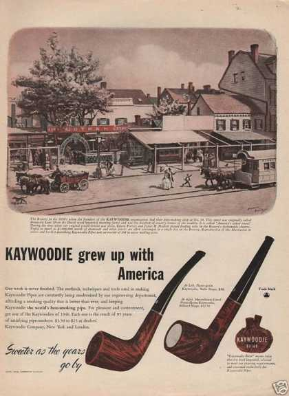 Kaywoodie Grew Up With America Pipes (1946)