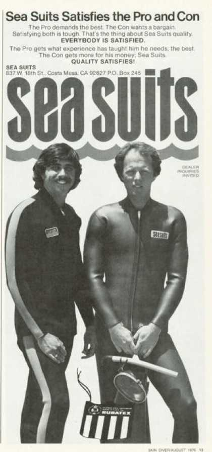 Rubatex Scuba Diver Diving Sea Wet Suit (1976)