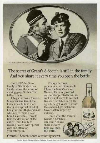 "Grant's 8 Scotch ""Share Our Family Secret"" (1971)"