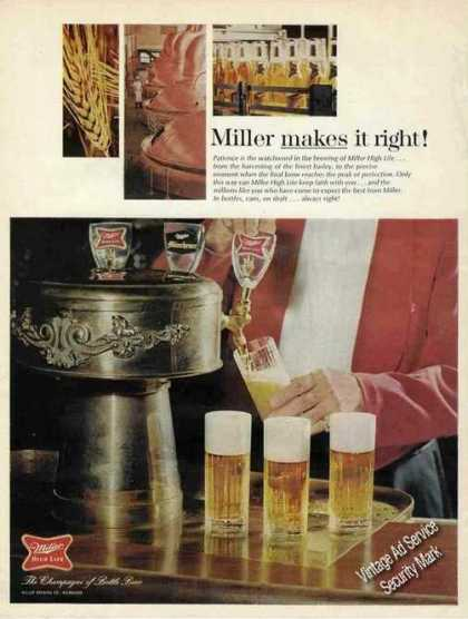 Miller Makes It Right! Beer (1968)