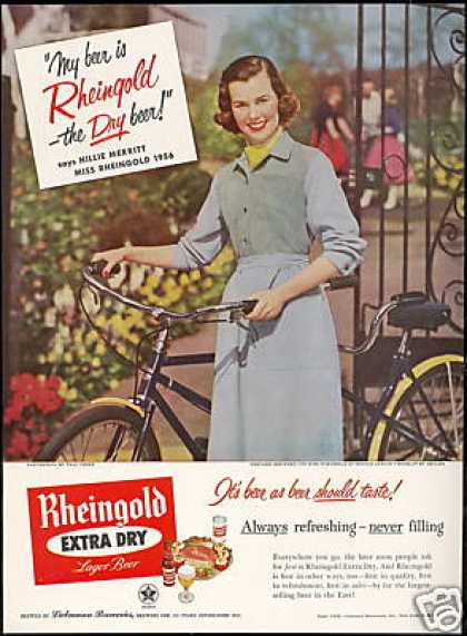 Miss Rheingold Beer Bicycle Hillie Merritt (1956)