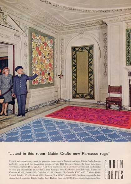 Cabin Crafts Parnasse French Style Rugs (1964)