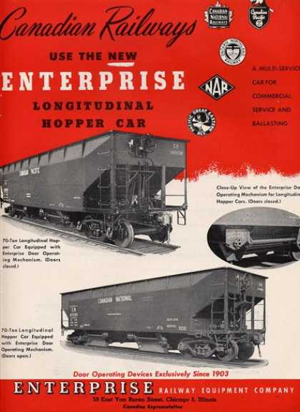 Canadian Railways Enterprise Hopper Car (1952)