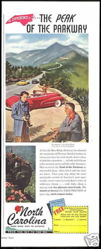 North Carolina Travel Blue Ridge Parkway (1949)