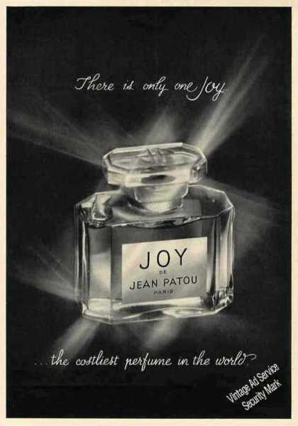 "Joy De Jean Patou ""There Is Only One Joy"" (1963)"