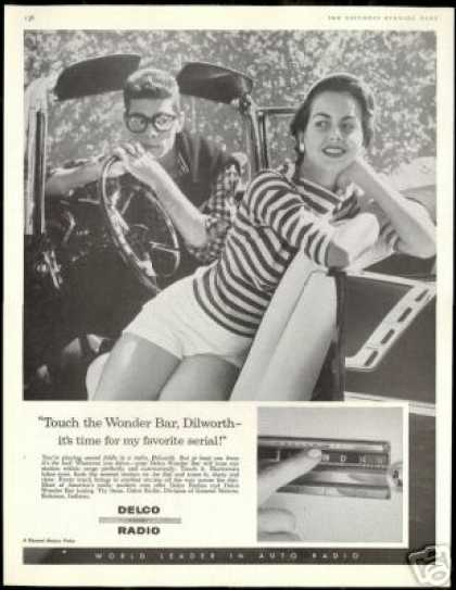 Delco Car Radio Pretty Woman Dilworth Photo (1956)
