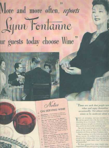 The Wines of California – Lynn Fontanne (1941)