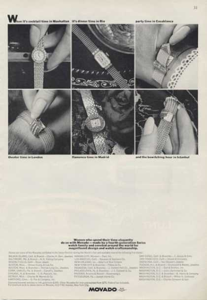 Movado Watch Diamond Braclet Photo (1964)