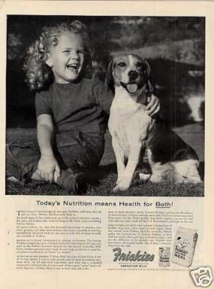 Friskies Dog Food Ad Beagle (1954)