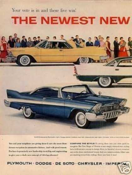 Chrysler Corporation Cars Ad 2 Page (1957)