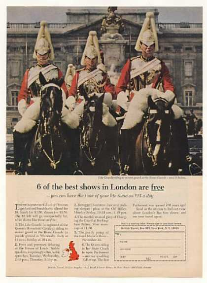 London Life Guards Riding Horse British Travel (1965)