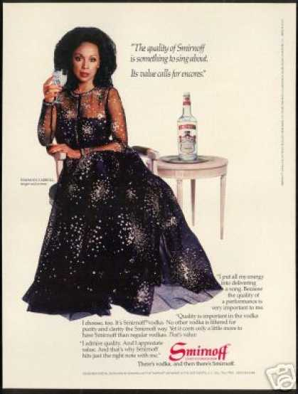 Diahann Carroll Photo Vintage Smirnoff Vodka (1983)