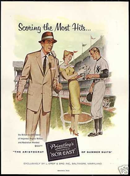 NY Yankees Baseball New York Priestleys Fashion (1956)