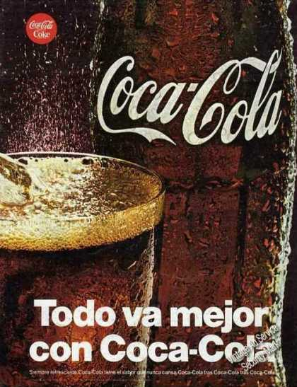 Coca-cola Coke Large Spanish Language Color (1968)