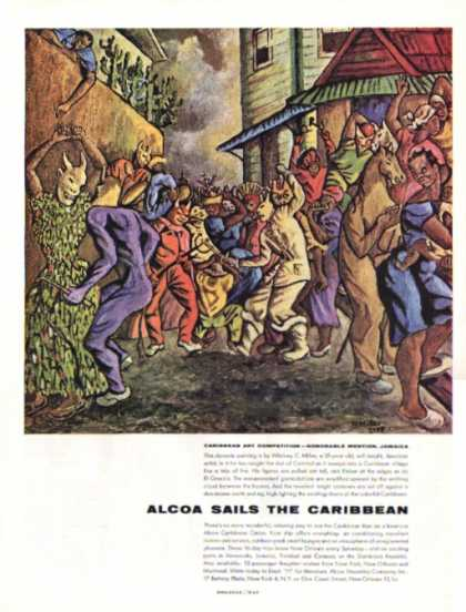 Alcoa Caribbean Cruise Ad Art Competion Wc Miller (1956)