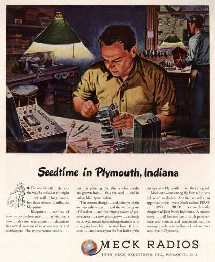 John Meck Industrie's Radio – Seedtime in Plymouth, Indiana (1946)