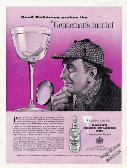 Basil Rathbone Gentleman's Martini Booth's (1958)