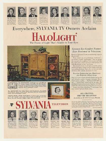 Sylvania Kensington Arlington HaloLight TV (1953)