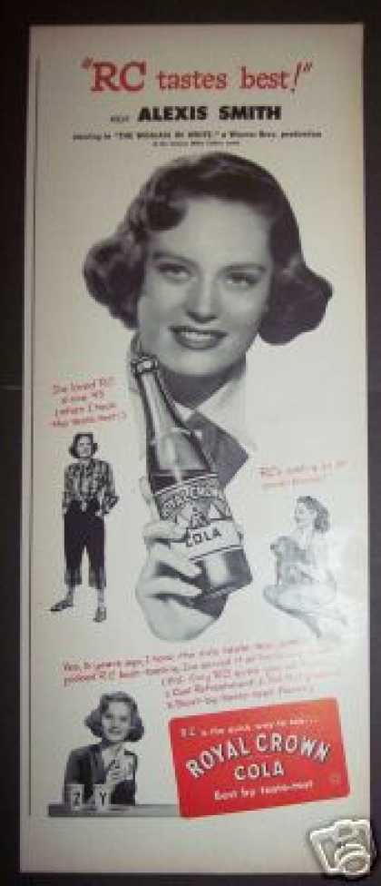 Original Alexis Smith Royal Crown Rc Cola Soda (1948)