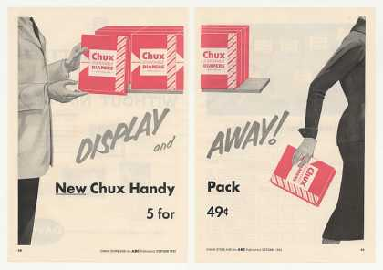 Chux Disposable Diapers Handy Pack 2-Page Trade (1955)