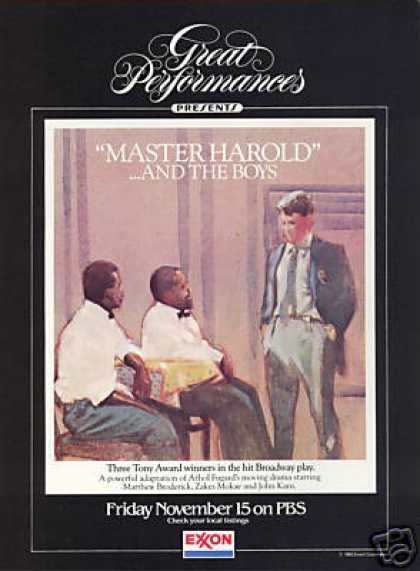 PBS Master Harold & The Boys Matthew Broderick (1985)