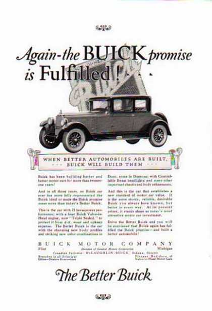 Buick Car – The Better Buick – 75 Horsepower performance (1925)