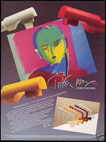 Epic Colored Faucet Peter Max Art (1986)